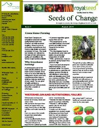 Seeds of Change - Free newsletter from Royal Seed